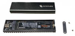 センチュリー 裸族のM.2 NVMe SSD ケース(実装)